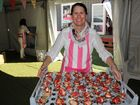 Jocelyn Freeman serves desert at the Weengallon Pink Ladies Day last week.