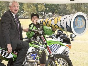 Motocross champ urges riders, motorists to play it safe