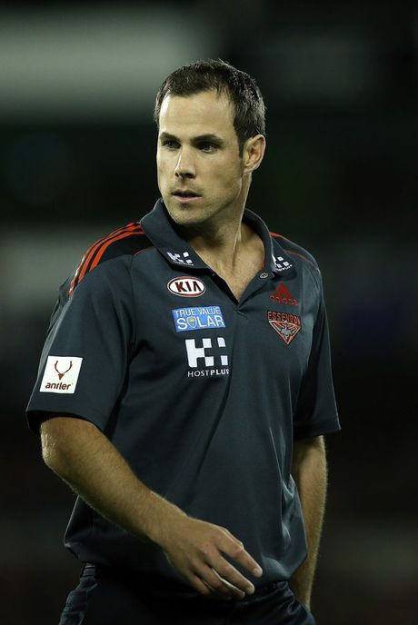 Essendon caretaker coach Matthew Egan.