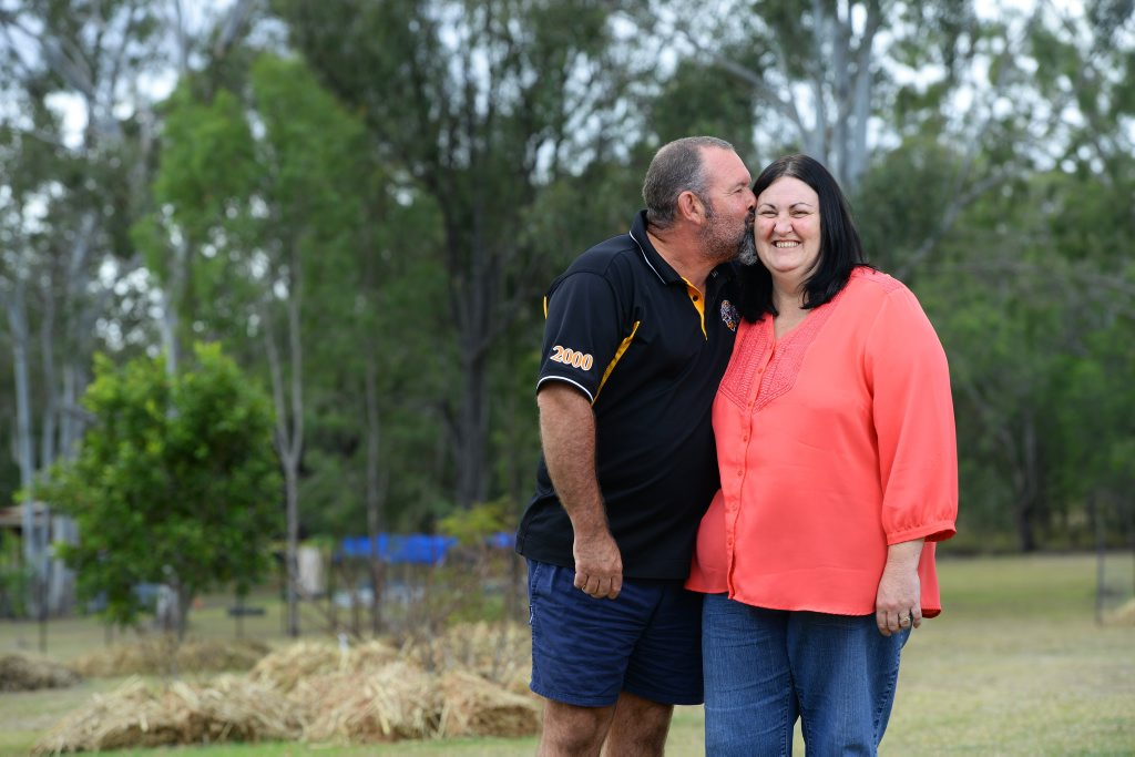 Tony and Michelle Kocsis. Michelle has undergone a liver transplant. Photo: Rob Williams / The Queensland Times