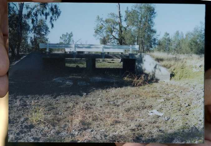 The culvert where Theresa Binge's body was found.