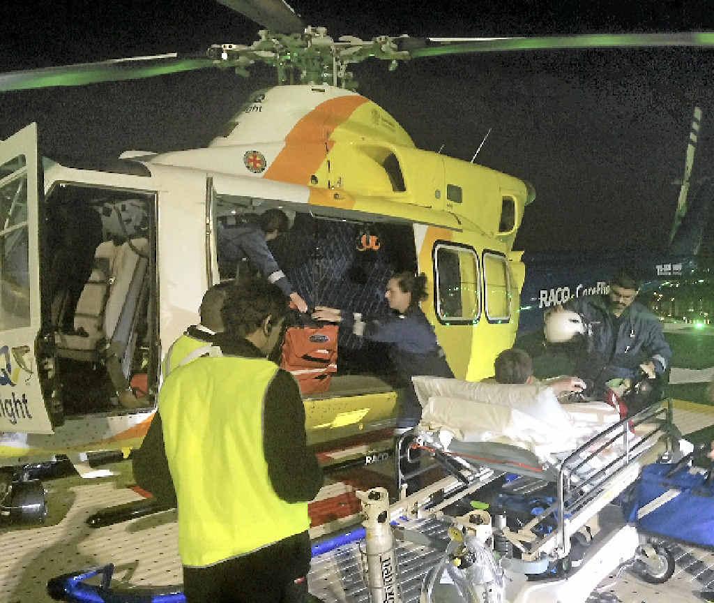 MEDIVAC RESCUE: An 11-year-old boy was flown from Maryborough to Lady Cilento Hospital in Brisbane.