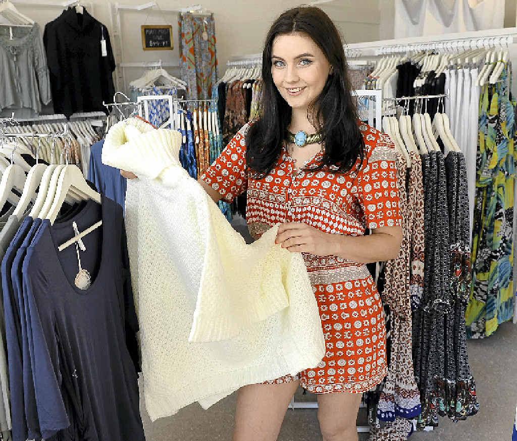 ON THE RISE: Fashion graduate and past Ipswich Girls' Grammar School student Yasmyn Paul, 22, opened White Haven Emporium in Brisbane St.