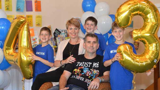 HAPPY BIRTHDAY: Sheldon and Suzanne Gakowski and their boys Matthew, Krystopher and Lukas celebrate Sheldon's 43rd birthday yesterday at Kohuna Sands Resort function centre with friends and family.