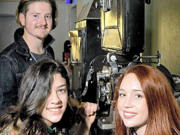 CINEPHILES: Toowoomba Film Society members (from left) Stephen Payton, Chloe Dalamaras and Ally Beckman.