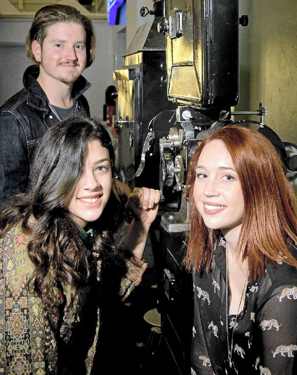 CINEPHILES: Toowoomba Film Society members (from left) Stephen Payton, Chloe Dalamaras and Ally Beckman.