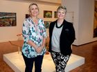 Marilyn Williamson and Tracey Cooper-Lavery at Rockhampton Art Gallery. Photo Allan Reinikka / The Morning Bulletin