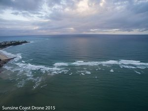 Drone footage Bribie Island and the Passage from the skies