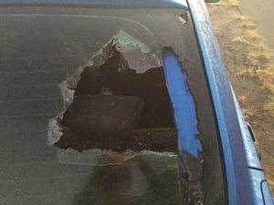 Windscreens smashed and car vandalised