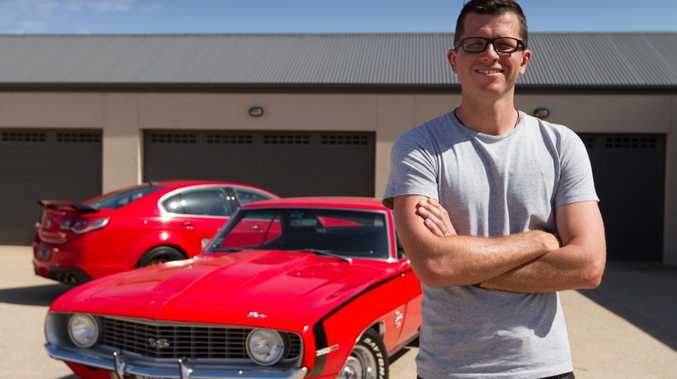 MUSCLE MAN: Garth Tander has an HSV GTS as his company car, and a 1969 Chevy Camaro as his weekend toy