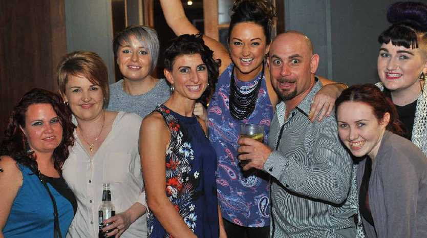 CELEBRATIONS: Raelene Dickinson (second from left) enjoyed her birthday with friends and family at Dicey's function room.