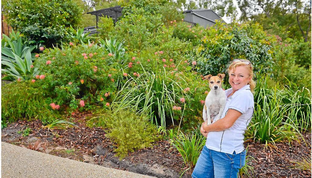 Jenny Verne in her garden.