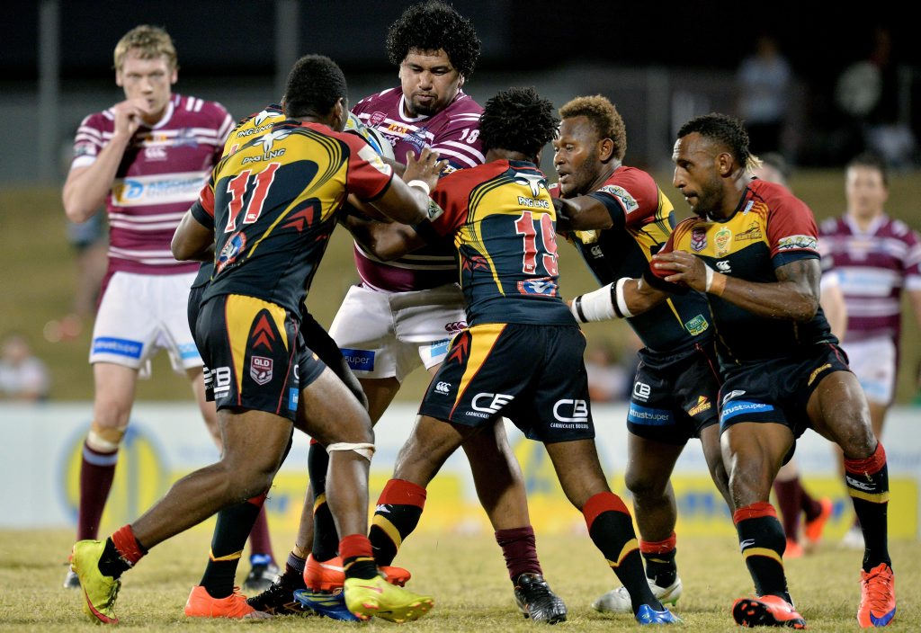Cutters vs PNG August 2015 Photo Tony Martin / Daily Mercury