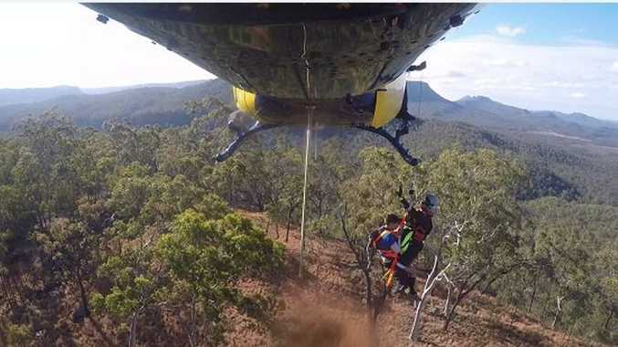 RACQ Capricorn Helicopter Rescue winched two lost bush walkers to safety at Carnarvon Gorge.