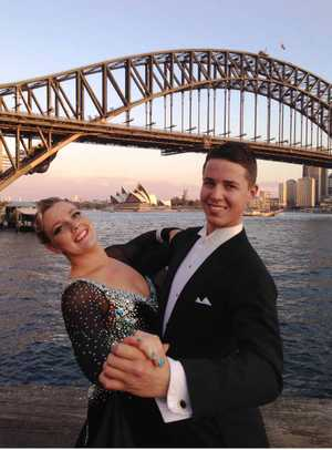 FINE COUPLE: Melissa Thomson and Kyle Withers won the adult C grade new vogue category at the Luna Park Ballroom Dancing Championships.