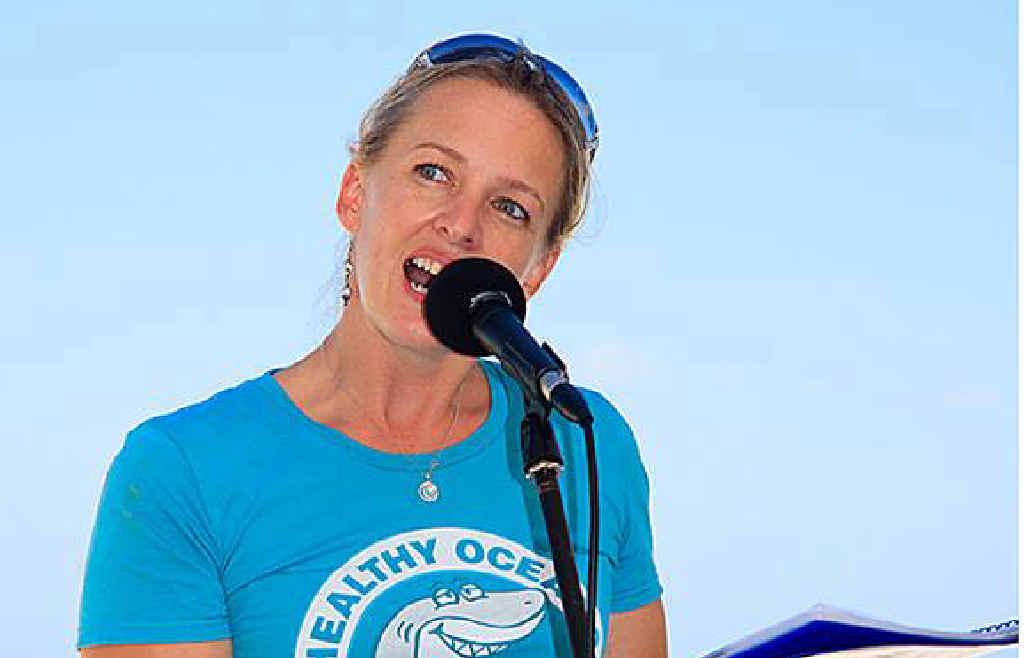 ACTIVIST: Natalie Banks of Sea Shepherd Australia says shark nets do not work. Photo: contributed
