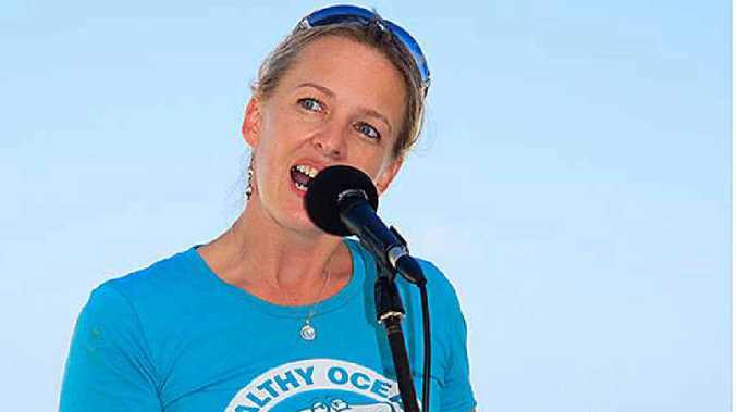 ACTIVIST: Natalie Banks of Sea Shepherd Australia says shark nets do not work. Photo: contributed