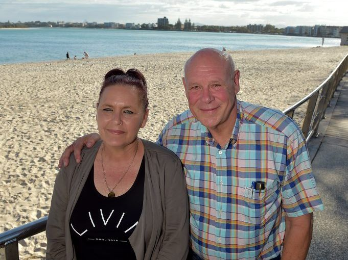 COAST VISIT: Angela Grieve with Queensland Men of League president Darryl Van de Velde.