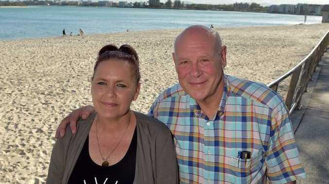 COAST VISIT: Angela Grieve with Queensland Men of League president Darryl Van de Velde.