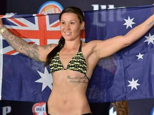 Gympie's cage fighting mum on rocket ride in USA