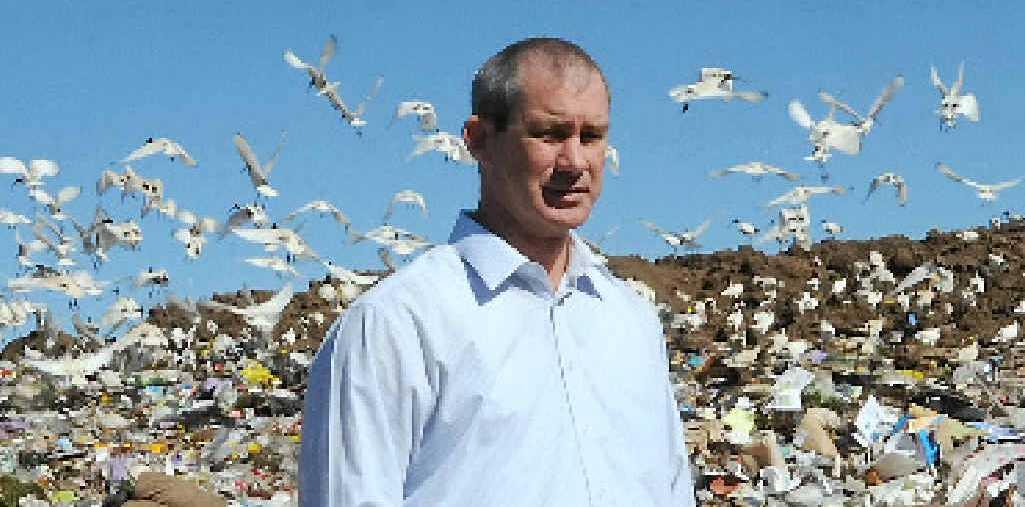 "BAD RAP: Mick Curran in a swarm of ""tip turkeys"" at Bonnick Rd."