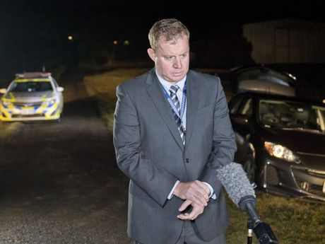 Acting Detective Inspector Matt Howard on the scene at Allens Road, Upper Tenthill, near where Gatton teenager Jayde Kendall's body was found.