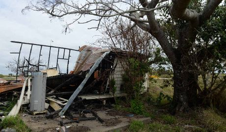 EYESORE: The burnt-out remains of a house on the corner of Windermere and Back Windermere Rds.