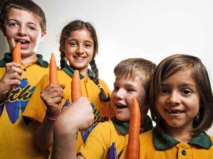 Kids sink teeth into vegetables in Vegie Crunch health push