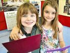 SHEER POETRY: Sophie Lennon and Abbey Hurworth, who are both 8, will recite a poem together at the 45th Gladstone Eisteddfod.