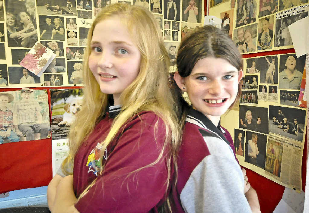 PERFORMERS: Sophia Ross, 12, and Bella Hurworth, 12, will perform at the 45th Gladstone Eisteddfod.