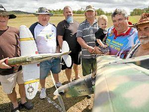 Giant model warbirds take to Gladstone skies