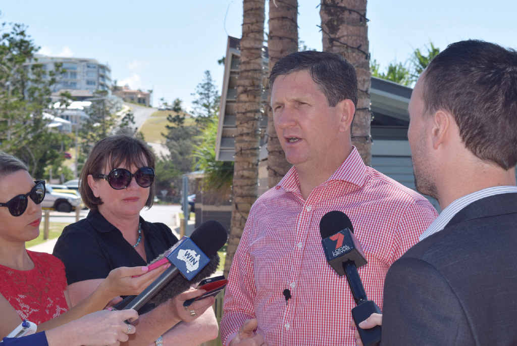 POLICY PROMISES: Opposition Leader Lawrence Springborg has guaranteed the LNP's policy to create a category for offshore boutique casino licences to allow Tower Holdings to put forward their proposal for GKI.