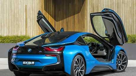 The BMW i8 hybrid supercar.