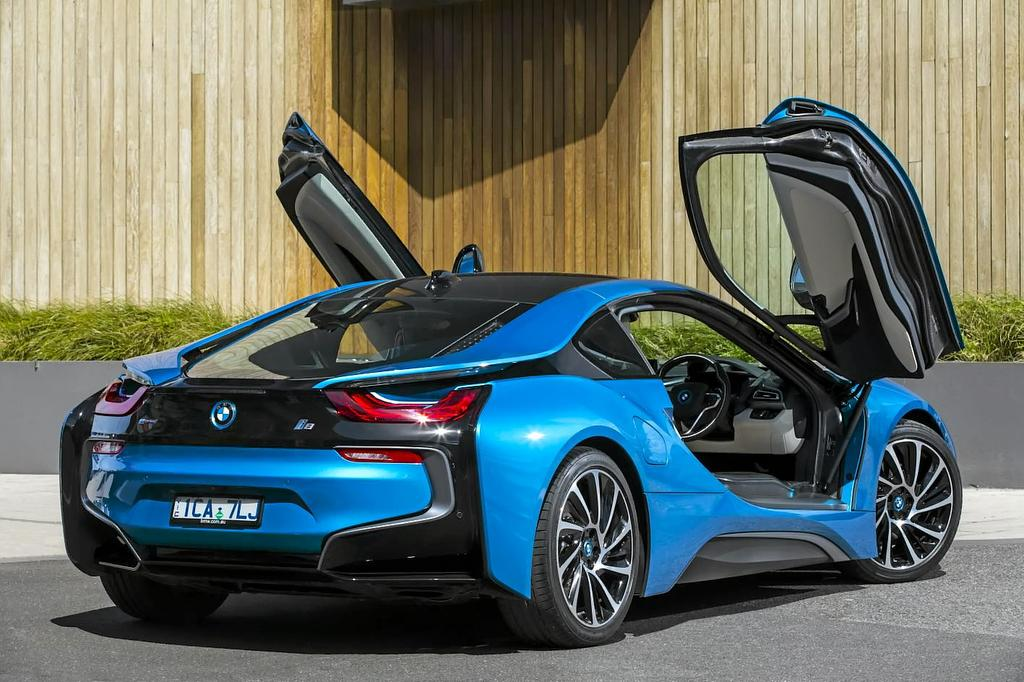The BMW i8 hybrid supercar.