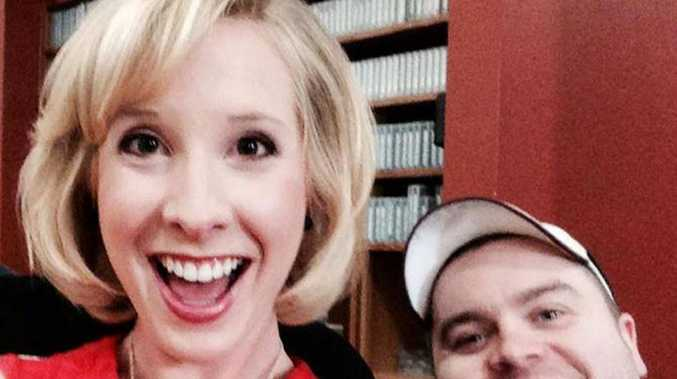 Journalists Alison Parker and Adam Ward, who were killed after a gunman opened fire during a live broadcast in Virginia