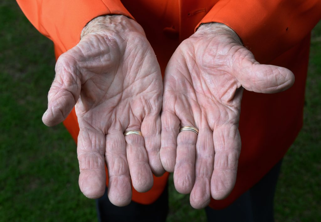 The magic hands of The Amazing Danton. Photo: Rob Williams / The Queensland Times