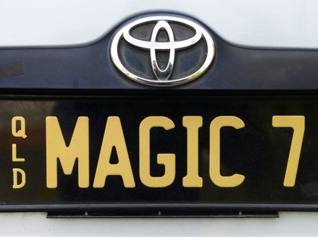 The number plate of The Amazing Danton. Photo: Rob Williams / The Queensland Times