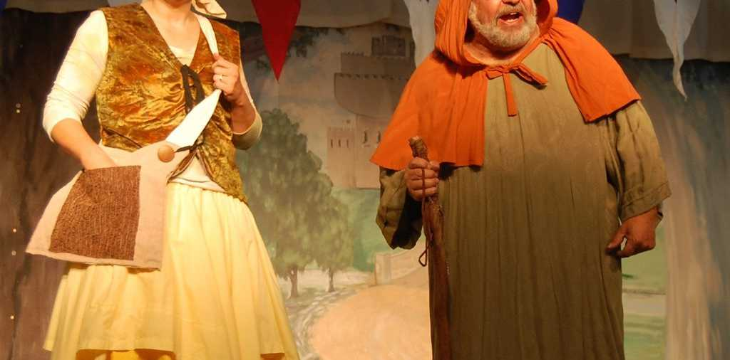 STAGED ANTICS: Amanda Burns and Arthur Rifkin as Gonerill and Walter in the latest Bell Theatre Production.