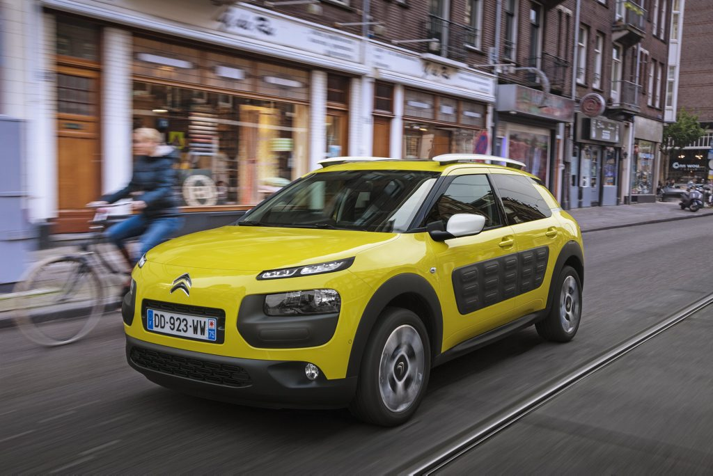 PRICKLY: Funky Citroen Cactus will go on sale in early 2016 in either 81kW three-cylinder petrol manual or 68kW four-cylinder diesel automatic guise.