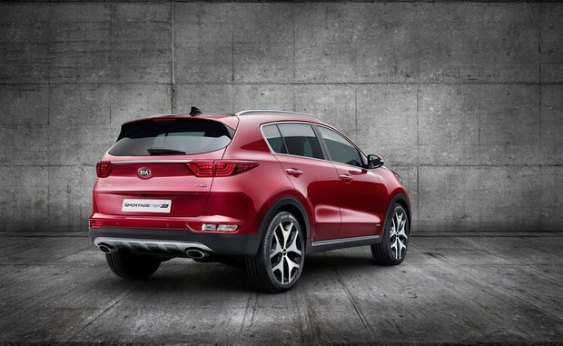 REAR FOR NEXT YEAR: New Sportage model arrives in Australia in early 2016.