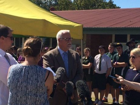 Darling Downs and South West regional director Greg Dickman speaks to media about the death of Jayde Kendall.