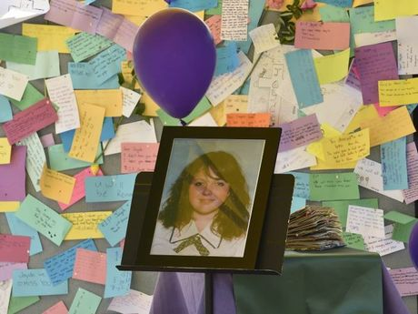 The Lockyer Valley District High School, at Gatton where Jayde's friends and fellow students have set up a memorial.