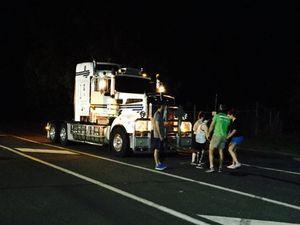 Fitness fanatics pull 12 tonne truck up Toowoomba street
