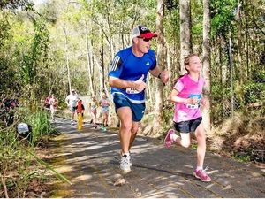 Dads and offspring – ready, set and go for running festival