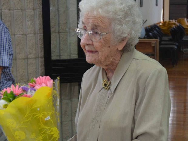 MACKAY FAVOURITE: Ethel Bailey thanked her friends at the Senior Citizens Club for their birthday wishes.