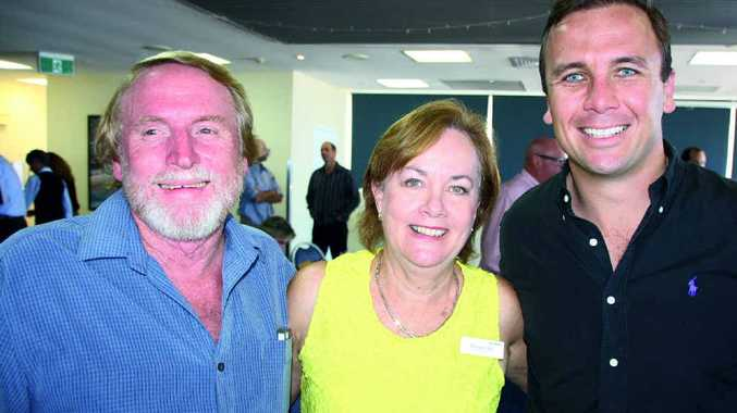 Nick Clatworthy of InProperty with Rhonda Carter of Ray White Caloundra and Dan Sowden of Ray White Maroochydore.