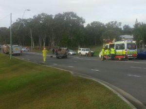 Car crash at Glenlyon Rd