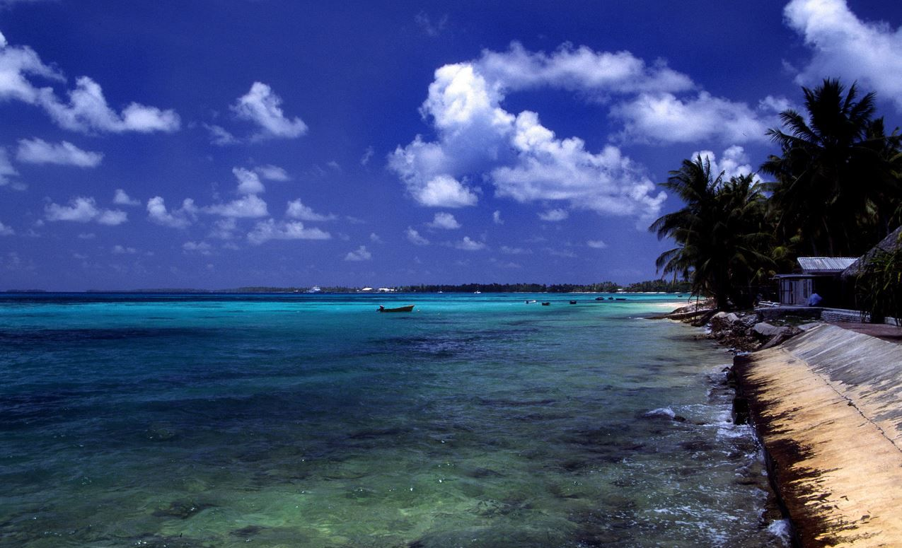The island of Tuvalu could disappear as sea levels continue to rise.