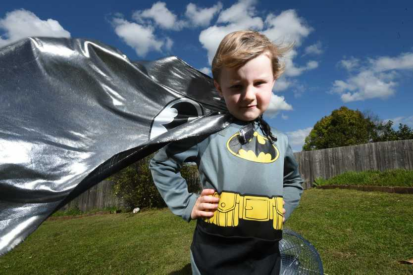 Ethan Greaves, 5, of Lismore, will join the rest of Australia by dressing up as a super hero as part of National Superhero Week to raise funds to fight Muscular Dystrophy.