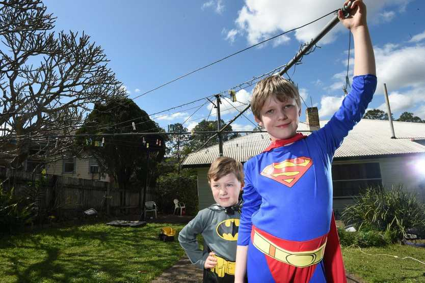 Riley, 9, and Ethan, 5, Greaves, of Lismore, will join the rest of Australia by dressing up as a super hero as part of National Superhero Week to raise funds to fight Muscular Dystrophy.